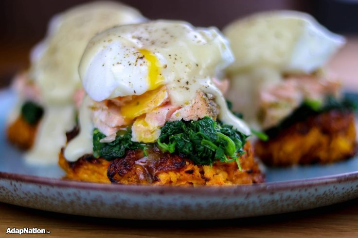 Sweet Potato Eggs Royale