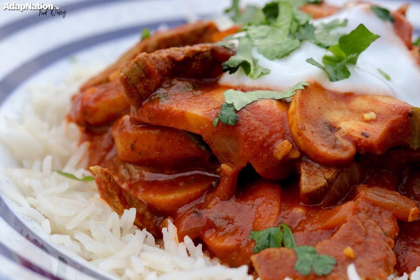 Indo-Italian Chicken Curry & Rice