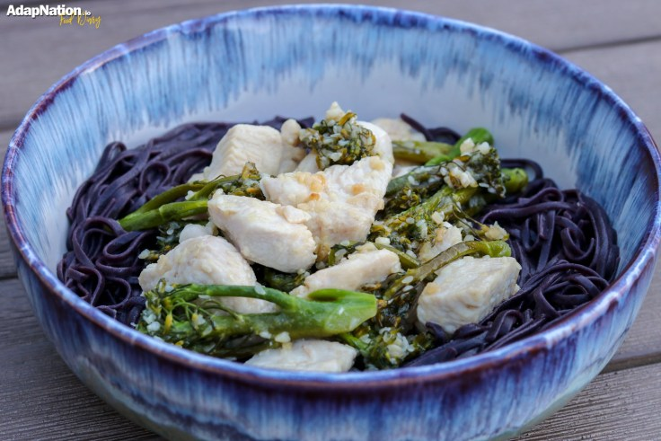 Black Rice Noodles with Honey & Sesame Chicken p4