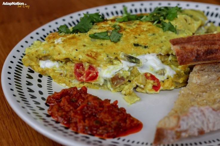 Sausage & Goats Cheese Omelette with Sourdough p4
