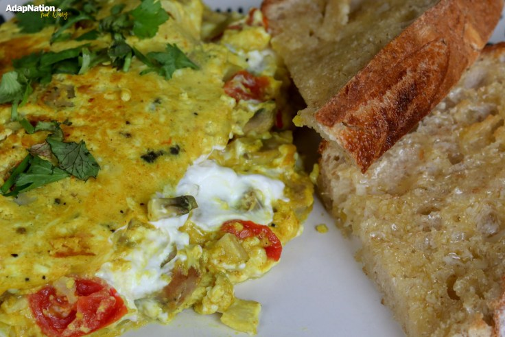 Sausage & Goats Cheese Omelette with Sourdough p2