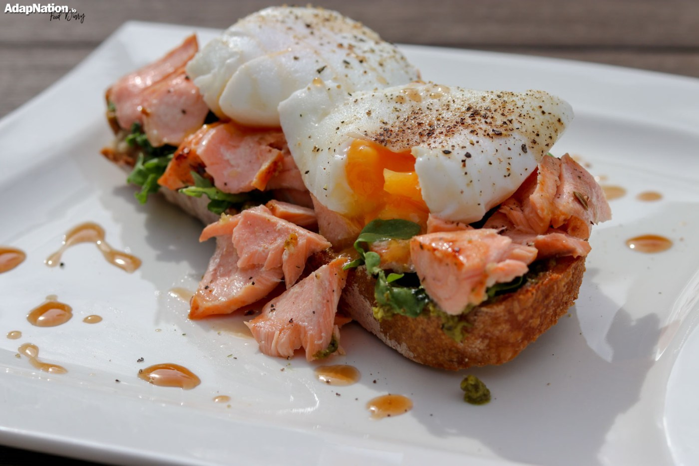 Salmon & Poached Egg Sourdough Toast