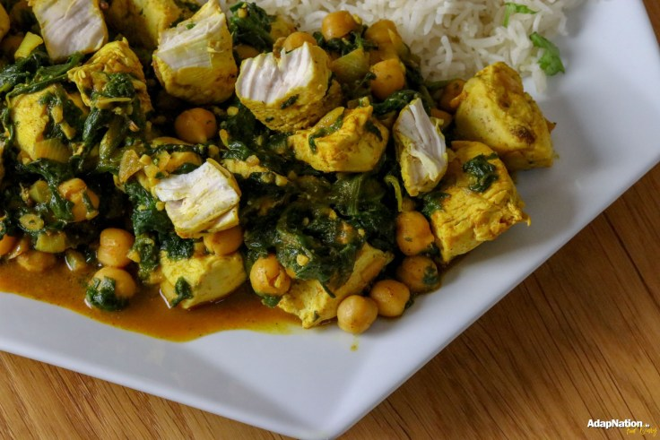 Spicy Coconut, Spinach & Chickpea Chicken Curry p3