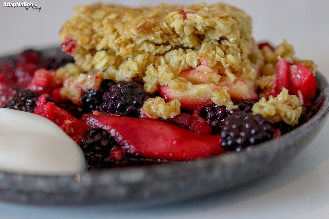Home-made BlackBerry & Apple Crumble [Gluten & Lactose Free]
