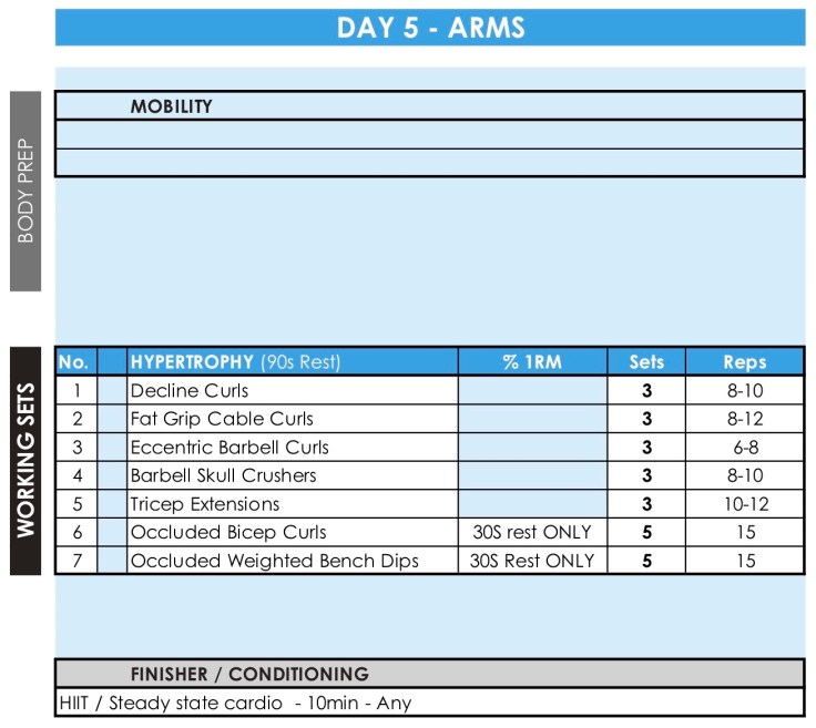 JAN-18 #HyperWorkouts - Day 5 - Arms Day