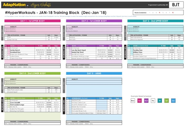 JAN-18 #HyperWorkouts Training Block