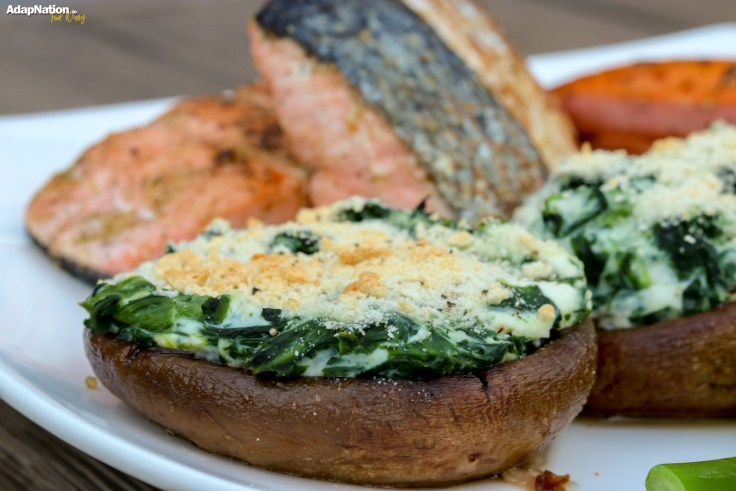 Salmon, Spinach & Ricotta Topped  Mushrooms & Chunky Wedges p2