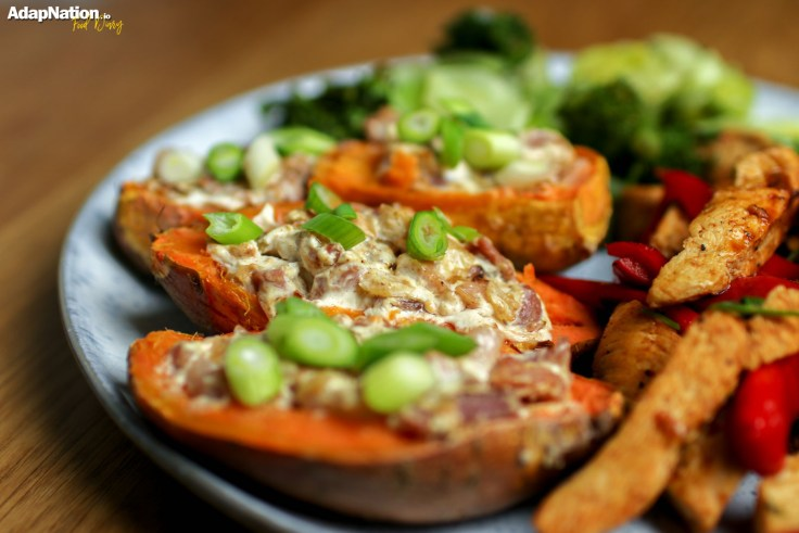 Tex Mex Chicken with Loaded Sweet Potato Skins p3