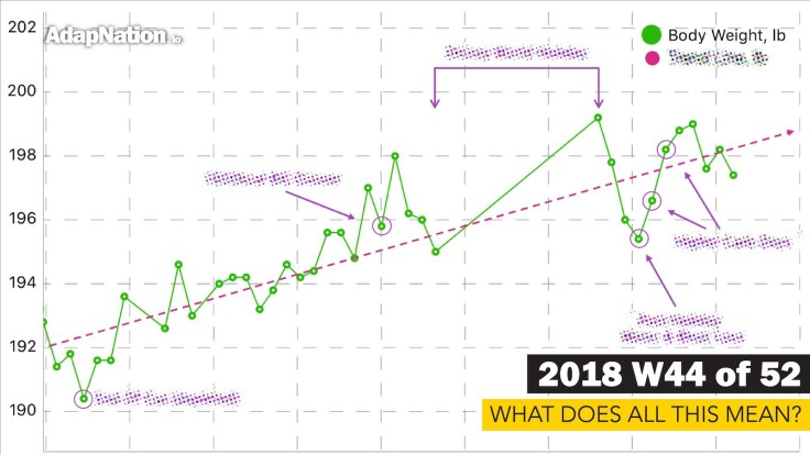 Undulating Weight Gain graph