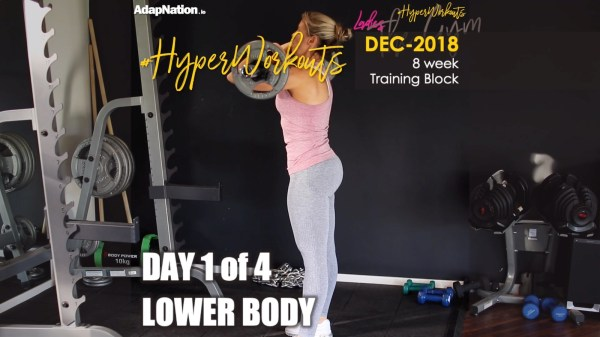 Ladies DEC-18 #HyperWorkouts Lower
