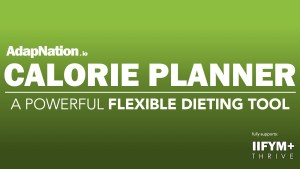 The AdapNation Calorie Planner