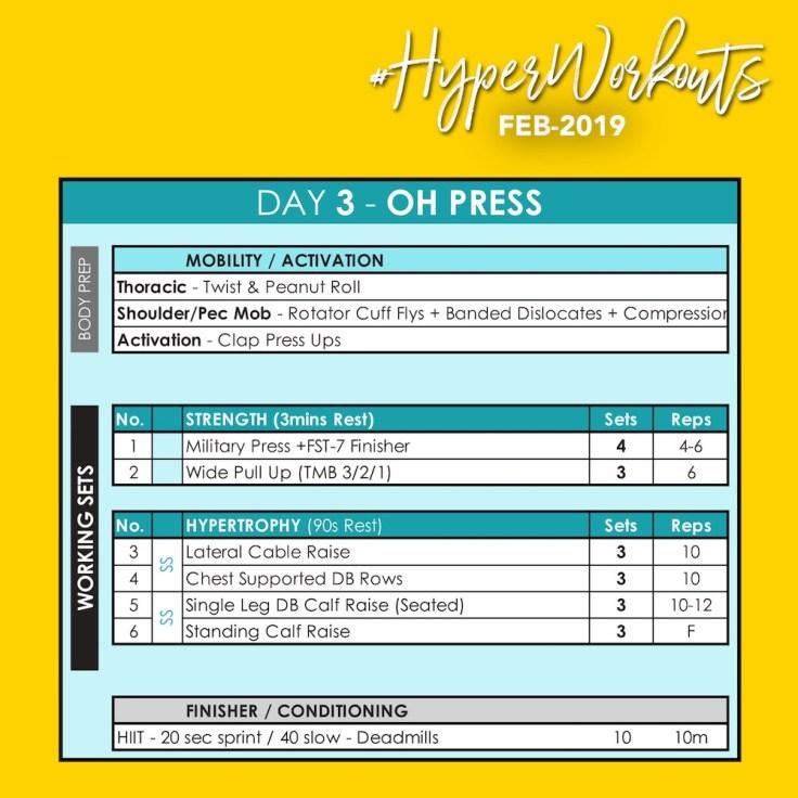 FEB-19 #HyperWorkouts Day 3