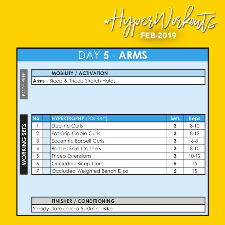 FEB-19 #HyperWorkouts Day 5