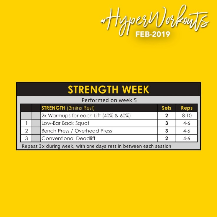 FEB-19 #HyperWorkouts Strength Week