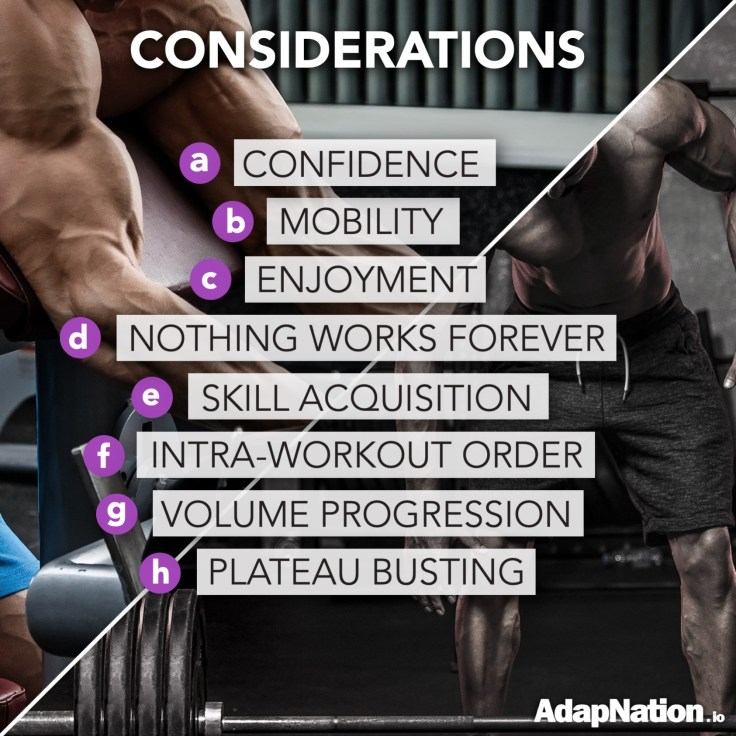 Strength vs hypertrophy training considerations