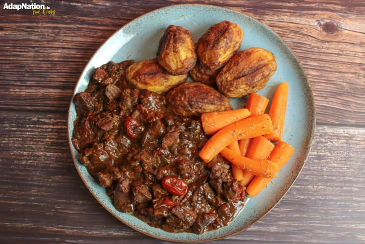 Rich Beef & Chicken Liver Stew with Crispy Roast Potatoes p3
