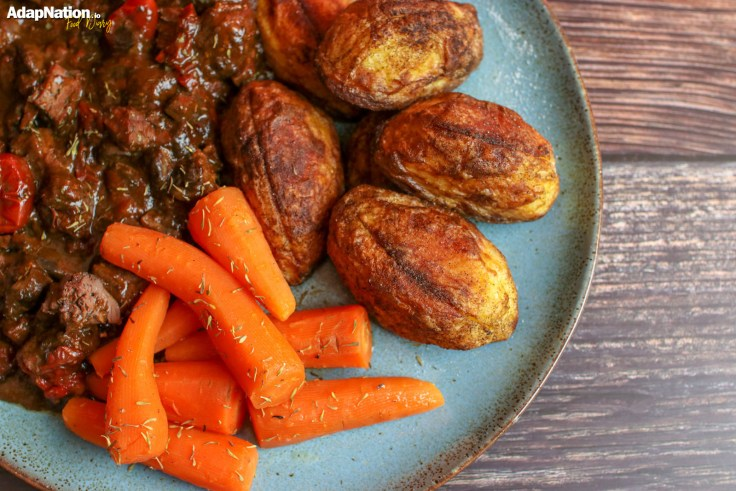 Rich Beef & Chicken Liver Stew with Crispy Roast Potatoes p4