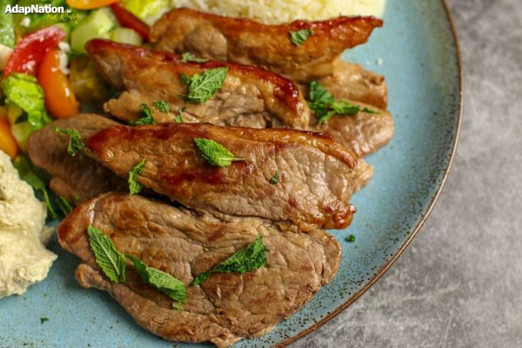 Mediterranean Lamb Steaks & Greek Salad