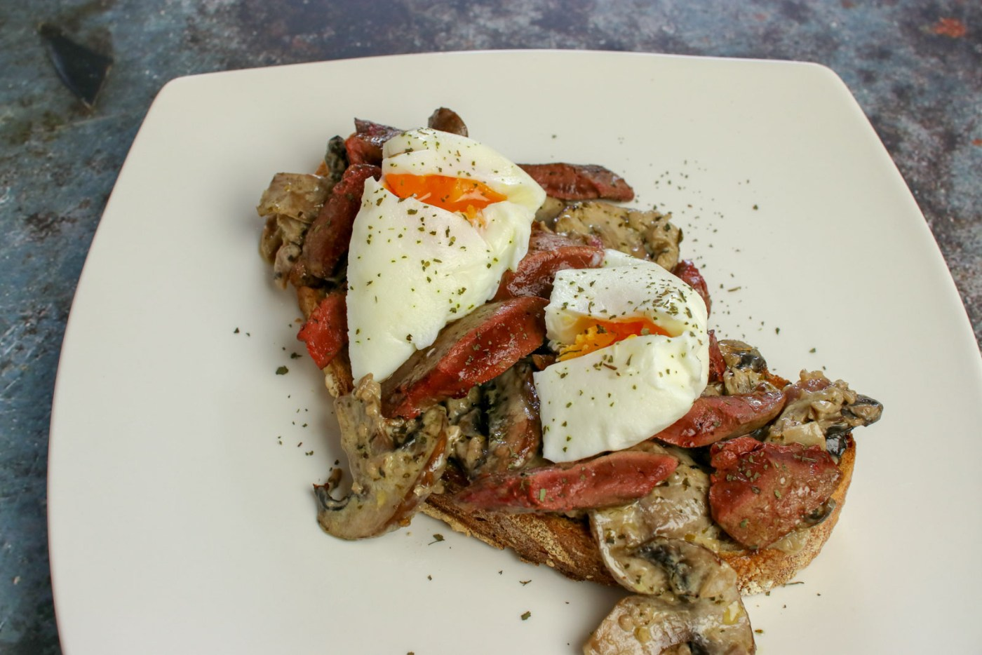 'Angeled' Livers on Sourdough Toast