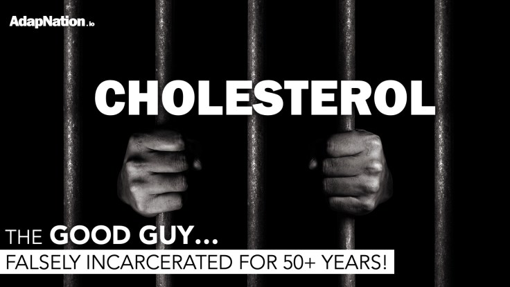 Cholesterol: the good guy falsely incarcerated for 50+ years!