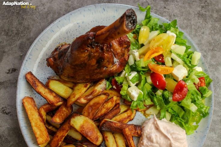 Lamb Shank, Chips & Greek Salad p2