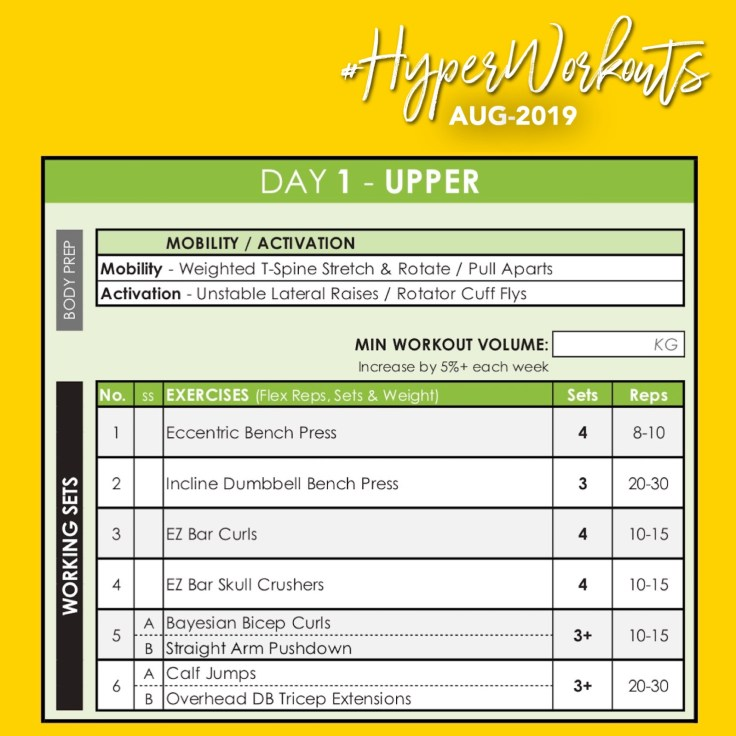 AUG-19 #HyperWorkouts DAY 1