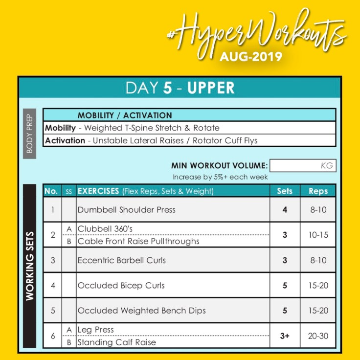 AUG-19 HyperWorkouts DAY 5