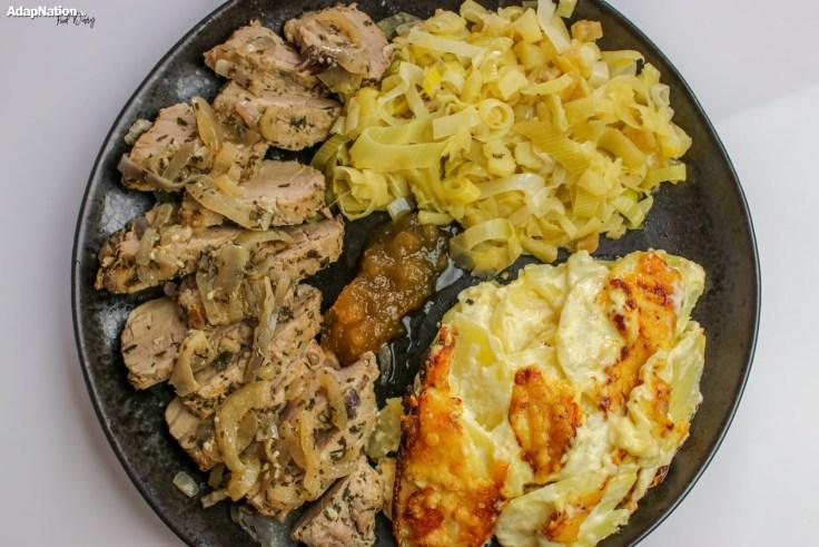 Pork Fillet, Cheesy Dauphinois Potatoes & Apple-Infused Leeks p3