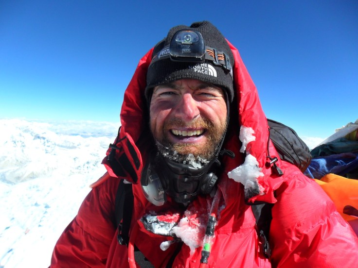 James Ketchell on top of Everest 2011