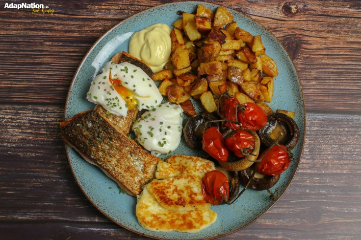 Deconstructed Eggs Royale with Roasties