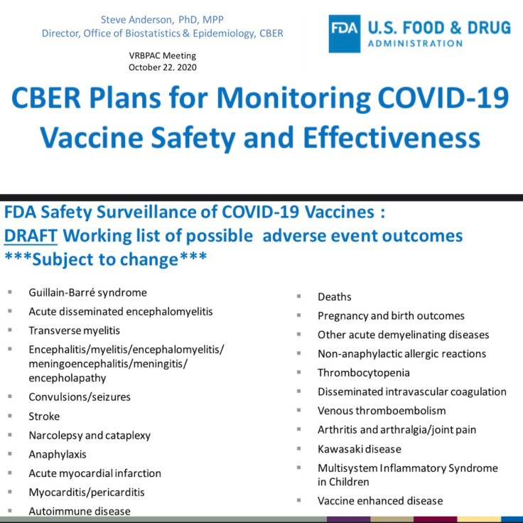 FDS Side Effects to monitor