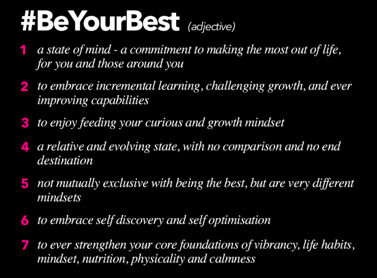 What does it mean to be your best?