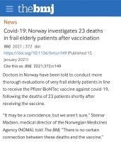 BMJ Vaccine Deaths - maybe