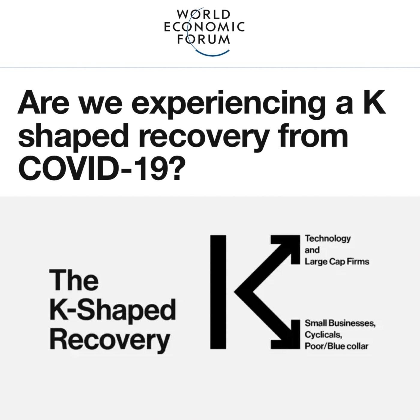 WEF's K Shape Recovery