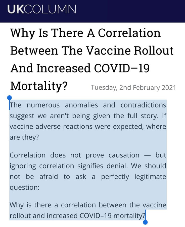 Vaccine-Mortality Correlations (in the absence of raw data)