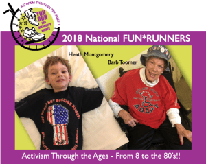2018 Fun Runners - Barb Toomer and Heath Montgomery