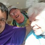 Picture of Chuy, Scott and Barb laughing together