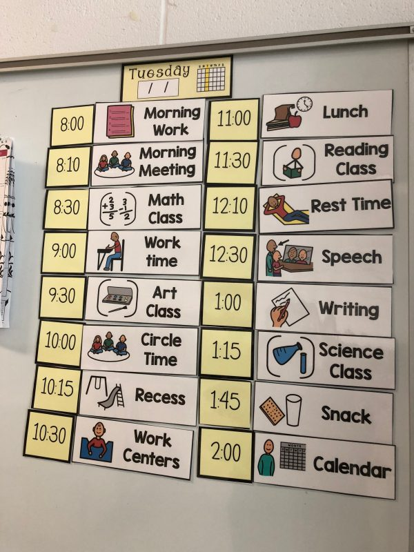 Contained Classroom Schedule