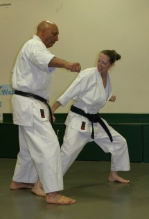 Women Kick Karate Sensei