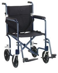"""19"""" Flyweight Lightweight Transport Wheelchair - Adaptive ..."""