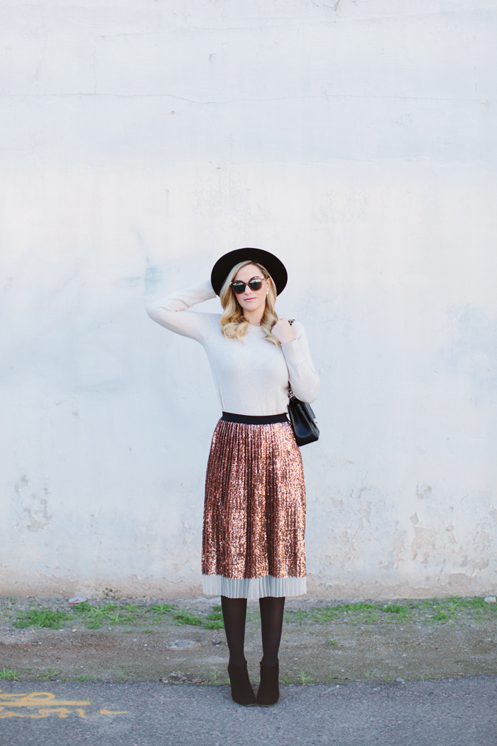 Pleated Sequins  Dash of Darling