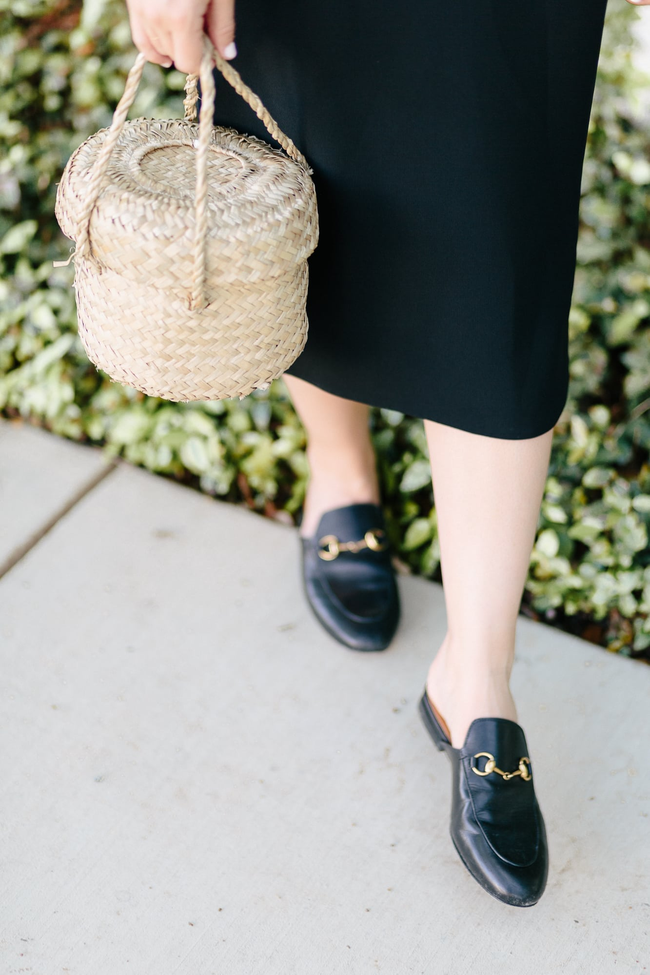 Gucci Loafers and Basket Bag