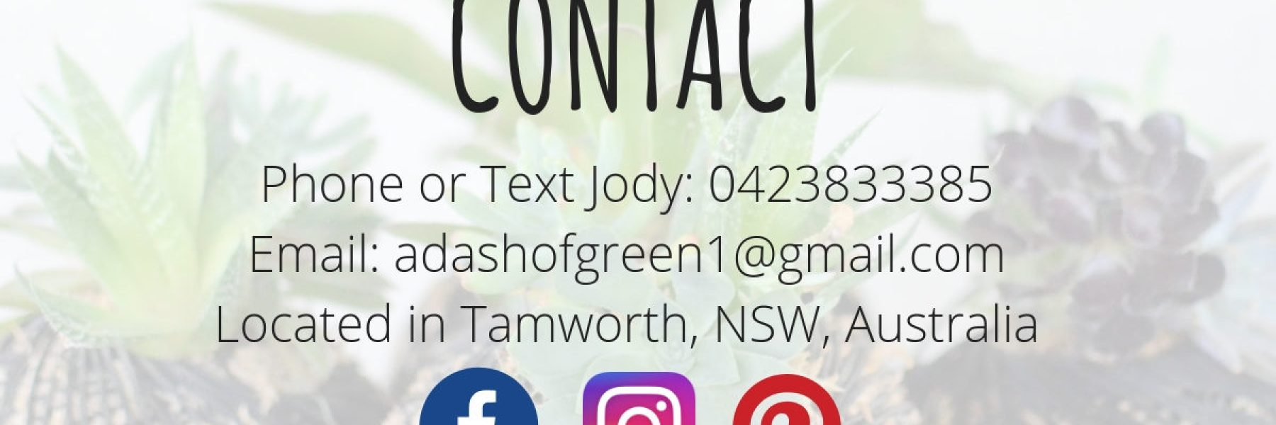 A Dash of Green contact, A Dash of Green phone number, a Dash of Green email address, a dash of green conact form