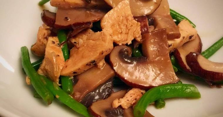Chicken, Portobello Mushroom, & Green Bean: One Pot Meal