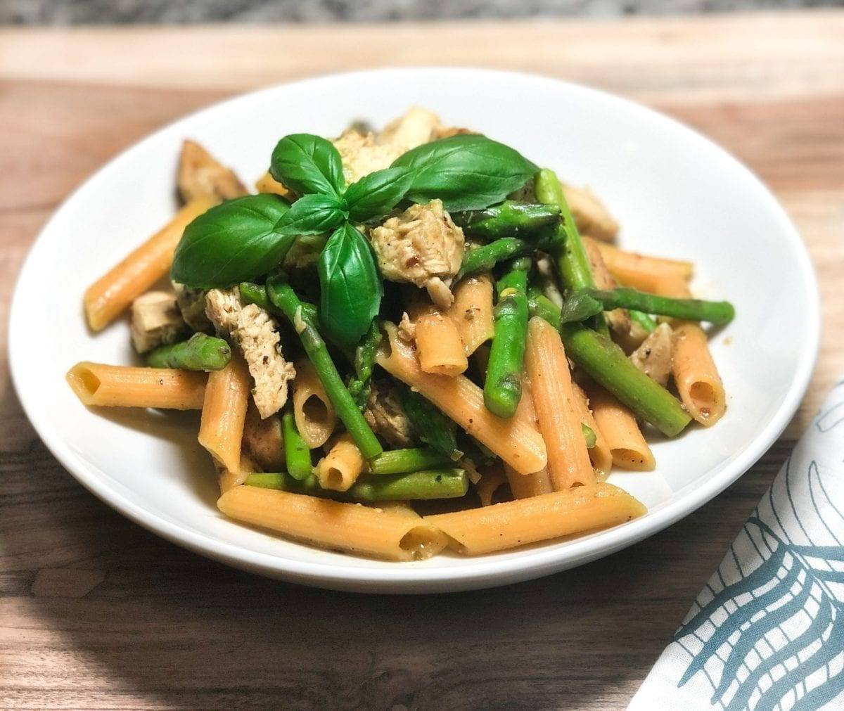 Asparagus Pesto Chicken Pasta
