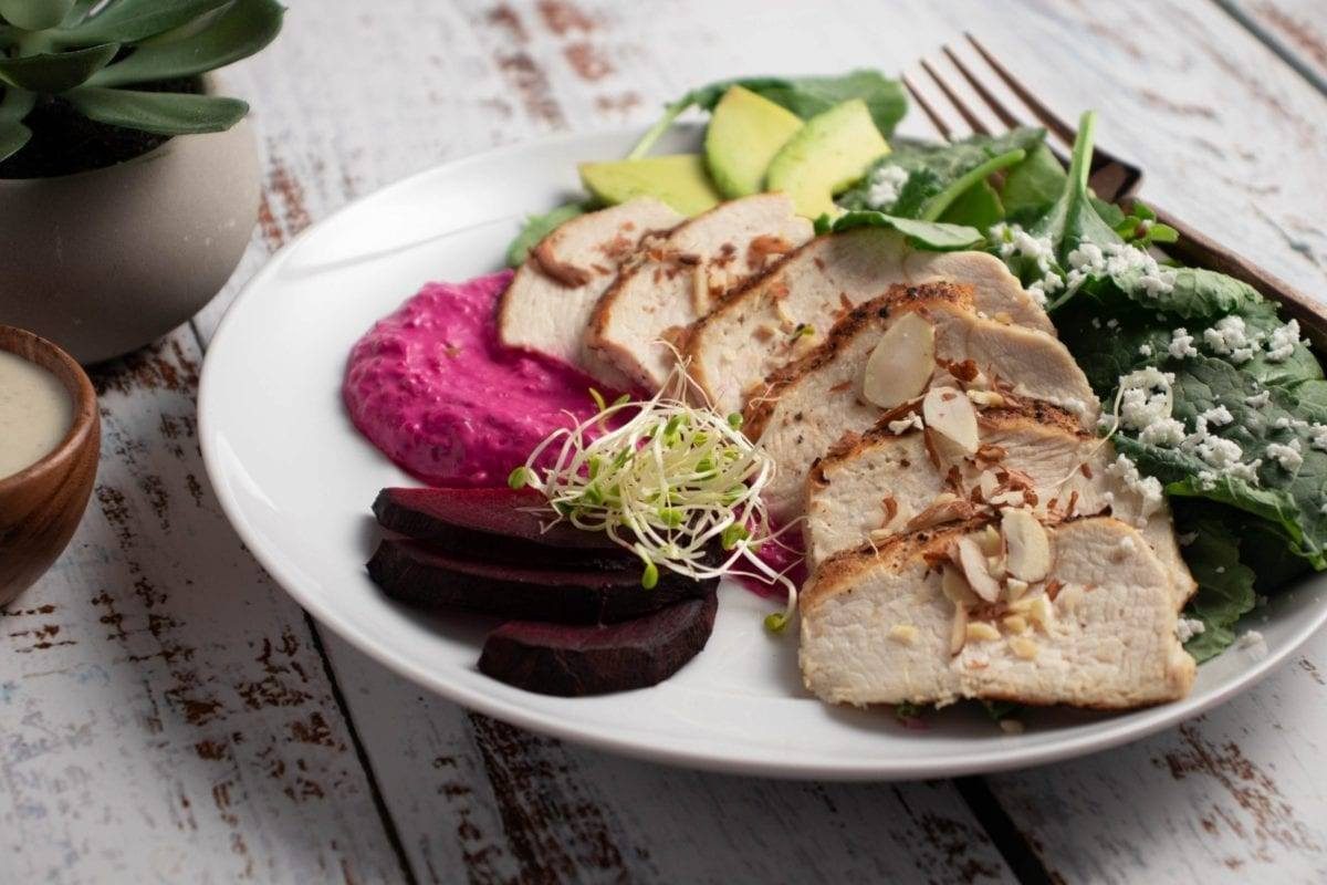 Chicken & Beet Tzatziki Salad