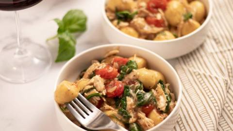 Tomato Gnocchi and Chicken Bowl Meal Planning Meal Prep Counting Macros