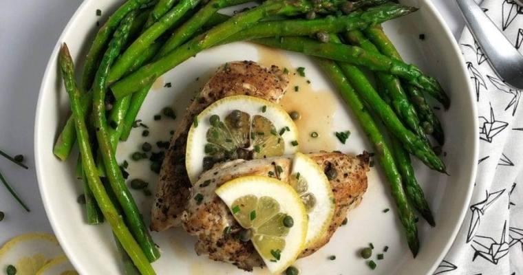 Chicken & Asparagus w/Lemon Caper Sauce