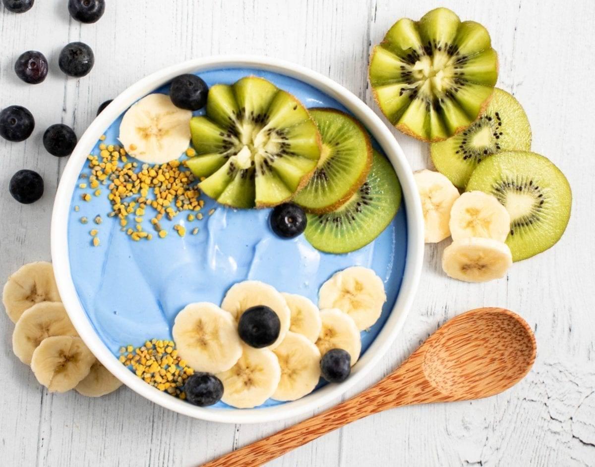 Blue Spirulina Yogurt Bowl