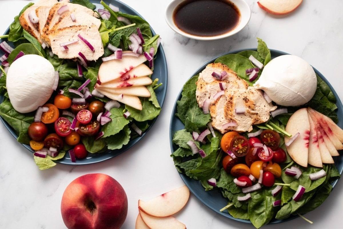 Peach Burrata Salad